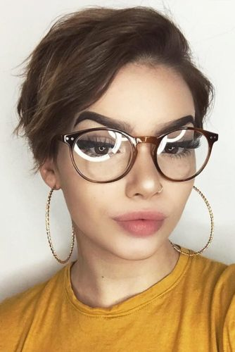 Cool Hair Cut After A Breakup Brown Color #pixiehairstyles #pixiecut #shorthair #hairstyles #brownhair