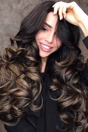 Black To Brown Hair Ideas Long #wavyhair #longhair #ombre