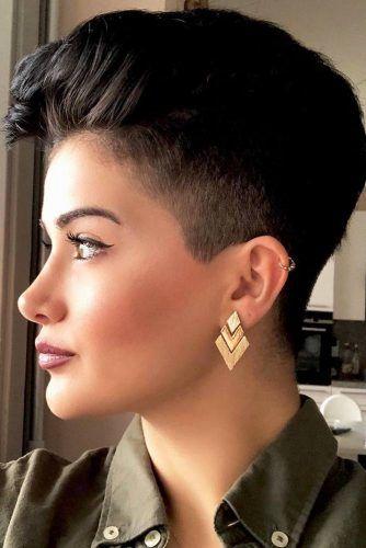 Black Pixie With Undercut #haircutsforwomen #womenhaircuts #haircuts #pixiehaircut
