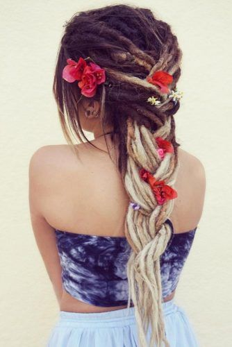 Braided Dreadlocks Hairstyles With Accessories #dreadlocks #dreadlockshairstyles #hairstyles