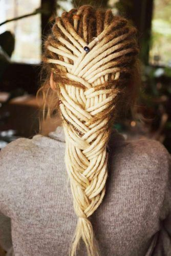 Braided Dreads French #dreadlocks
