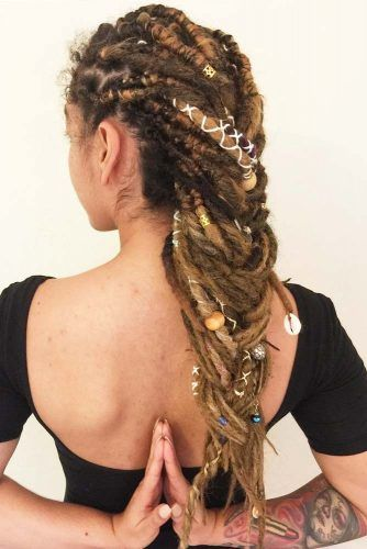 Long Braided Dreads #dreadlocks #dreadlockshairstyles #hairstyles #braids