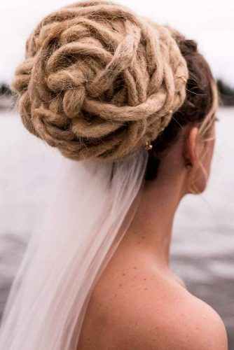 Bridal Updo Dreadlocks Hairstyles #dreadlocks #dreadlockshairstyles #hairstyles