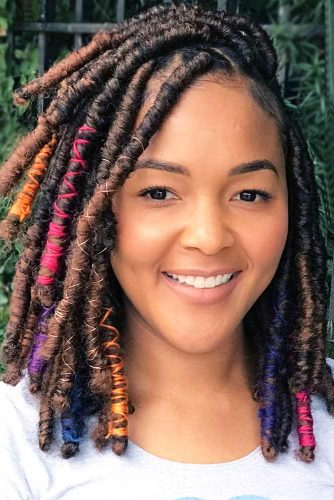 Hairstyles For Medium Dreads picture2