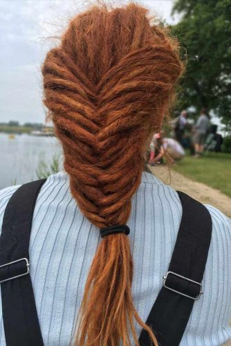 Auburn Braided Dreads #dreadlocks #dreadlockshairstyles #hairstyles #braids