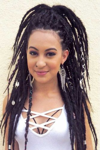 Half Up Hairstyles For Dreadlocks picture2
