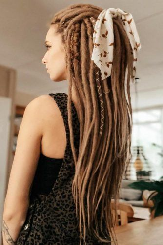 Half-Up Hairstyles For Dreadlocks Pony #dreadlocks