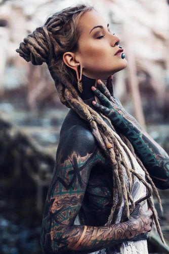 Space Buns Hairstyle Half-Up #dreadlocks