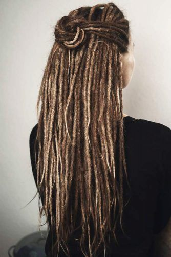 Half-Up Hairstyles For Dreadlocks Bun #dreadlocks