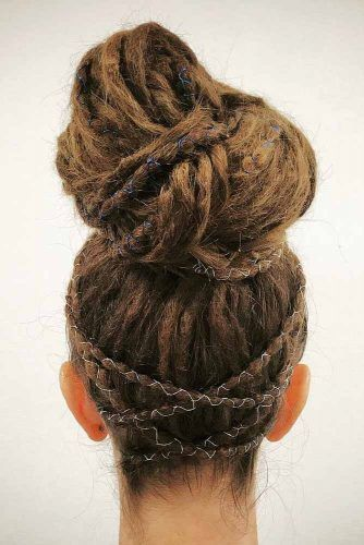 High Updo Dreadlocks Hairstyles #dreadlocks #dreadlockshairstyles #hairstyles