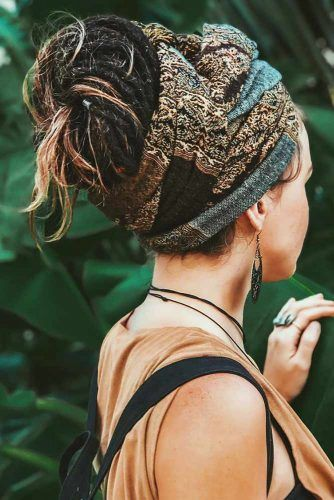 Dreadlocks Hairstyles With Accessories Scarf #dreadlocks