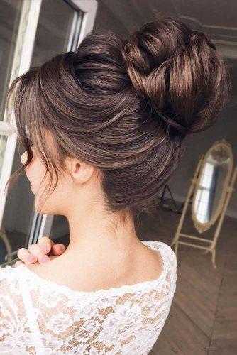 Brown Gorgeous High Bun #formalhairstyles #hairstyles #highbun #bunhairstyles #brownhair