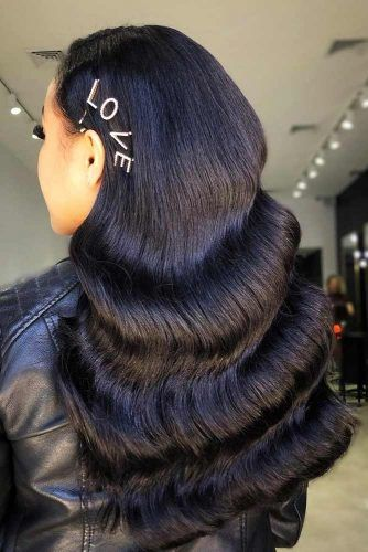 Black Hollywood Waves To Embrace Your Beauty #formalhairstyles #hairstyles #longhair
