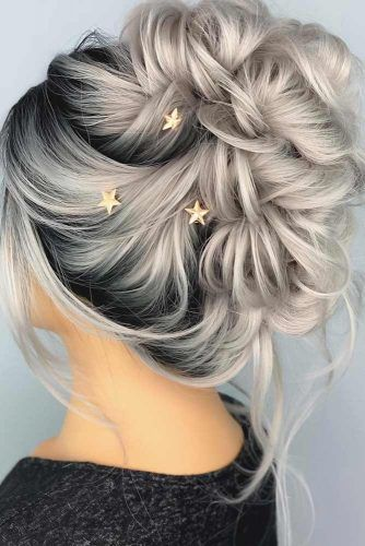 Fancy Updos For Modern Girls With Accessories #formalhairstyles #hairstyles #updohairstyles