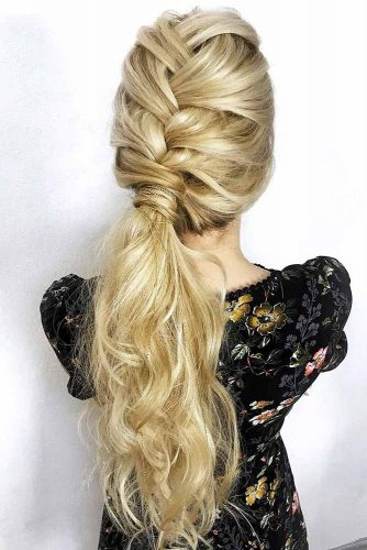 Braided Low Ponytail Hairstyles #braids #ponytail