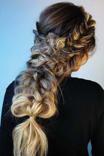 French Braids Into Topsy Tails Blonde #frenchbraids #braids