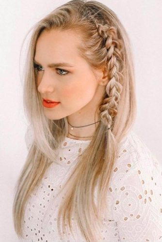 Cool Side Styling Braid Dutch #braid #blondehair #dutchbraid