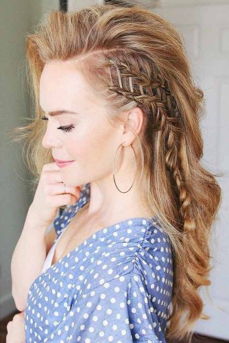 Cool Side Styling Braid Blonde #braids #longhair