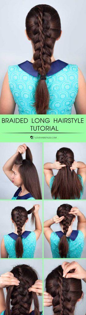 Simple Braided Hairstyle For Long Hair #braids #hairtutorial