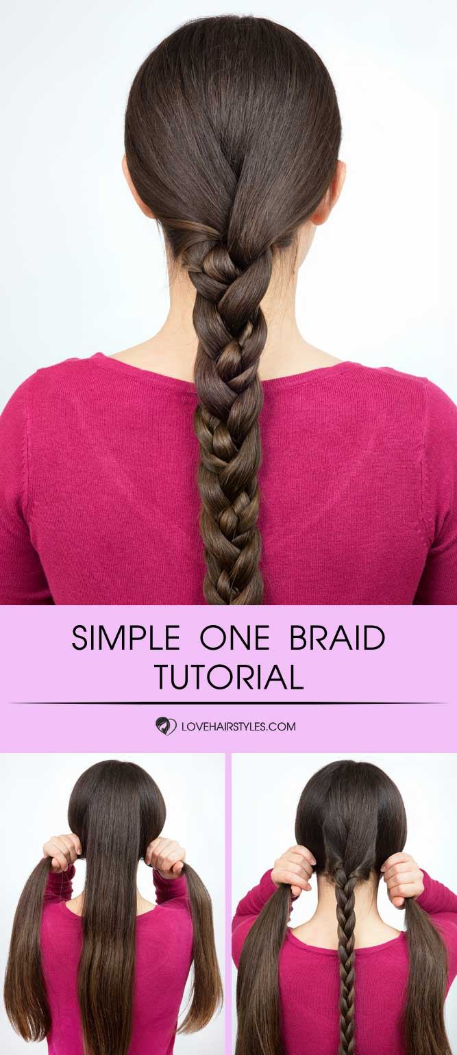 Simple Braid For Long Hair #braids #hairtutorial
