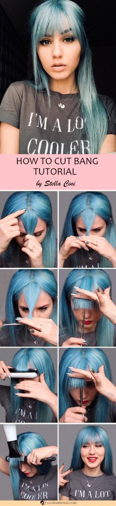 How To Cut Blunt Bangs