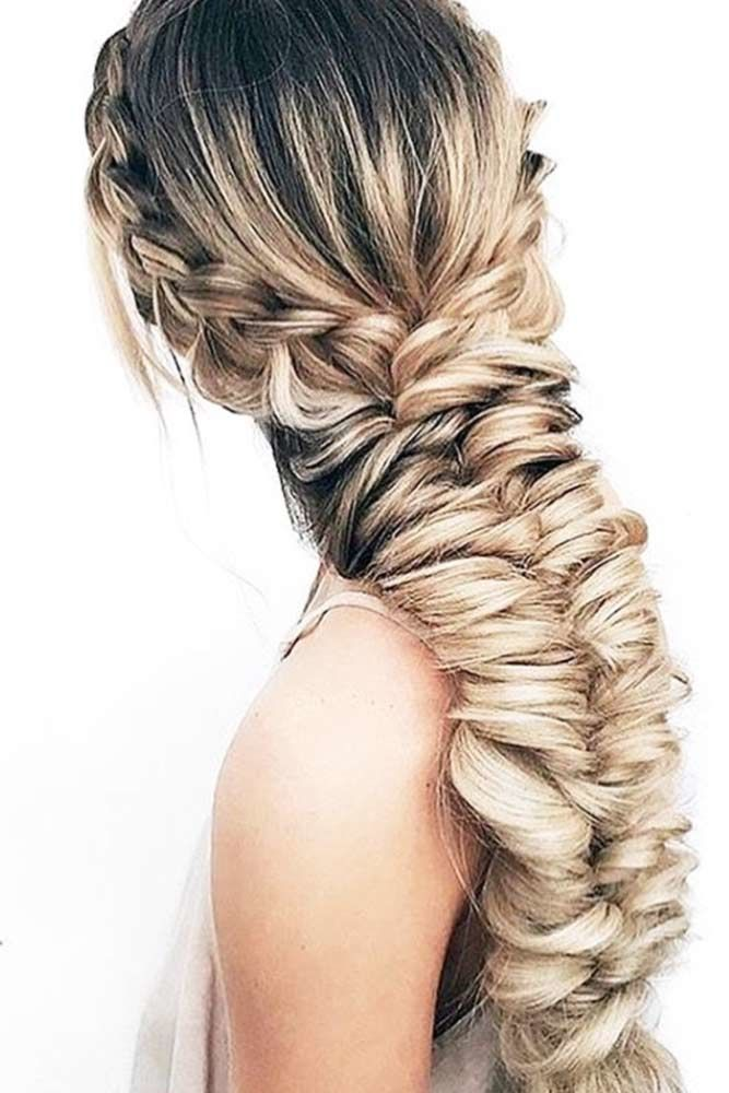 Massive Fishtail Braided Hairstyles Crown #howtofishtailbraid #fishtailbraid #braids #hairstyles #tutorials