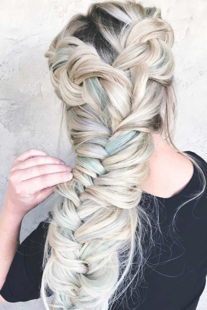 Massive Fishtail Braided Hairstyles Dutch #howtofishtailbraid #fishtailbraid #braids #hairstyles #tutorials