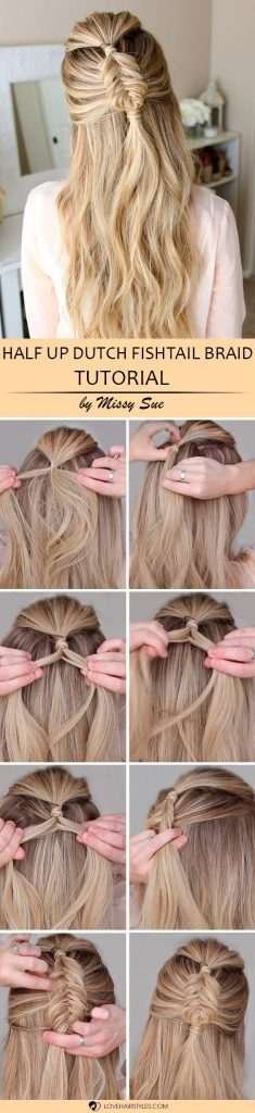 Half Up Mini Dutch Fishtail Braid