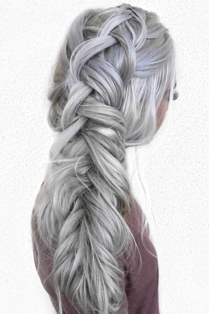 Massive Fishtail Braided Hairstyles Pony #howtofishtailbraid #fishtailbraid #braids #hairstyles #tutorials