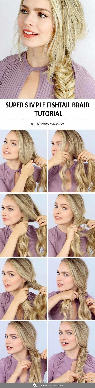 Simple Side Fishtail Braid #howtofishtailbraid #fishtailbraid #braids #hairstyles #tutorials