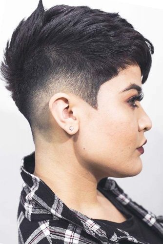 Choppy Pixie With Taper Fade