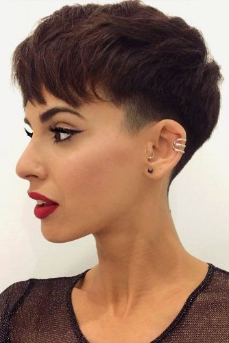 Layered Medium Pixie With Low Fade  #lowfade #fadehaircut #haircuts #pixiecut