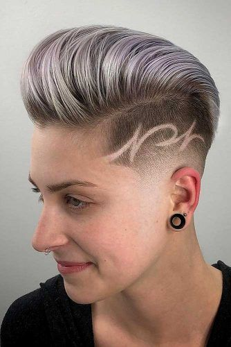 Low Fade Mohawk With Hair Tattoo #lowfade #fadehaircut #haircuts #pixiecut