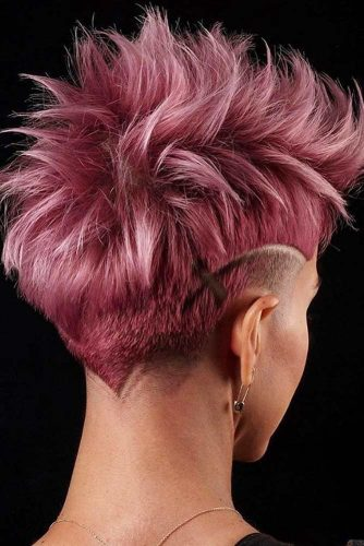 Messy Faded Mohawk With Shaved Stripes #lowfade #fadehaircut #haircuts #mohawk