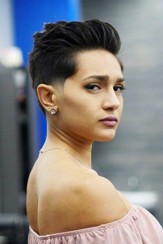 Medium Pixie With Razor Fade #lowfade #fadehaircut #haircuts #pixiecut
