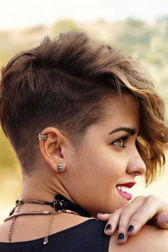 Side Part Pixie With Low Fade