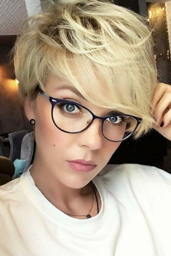 Layered Choppy Pixie #pixiehairstyles #pixiehaircuts #layeredpixie #thickhair #blondecolor