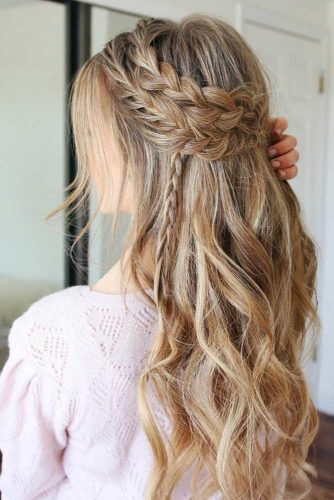 Girly Braided Half Up Half Downs picture 3
