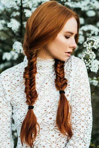 Warm Red Color Ideas Double Braids #braids #redhair #longhair