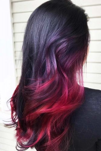 Shades Of Burgundy Ombre Brunette #brunette #redhair #ombre
