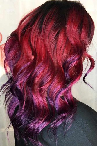 Shades Of Burgundy Ombre Violet #redhair #ombre