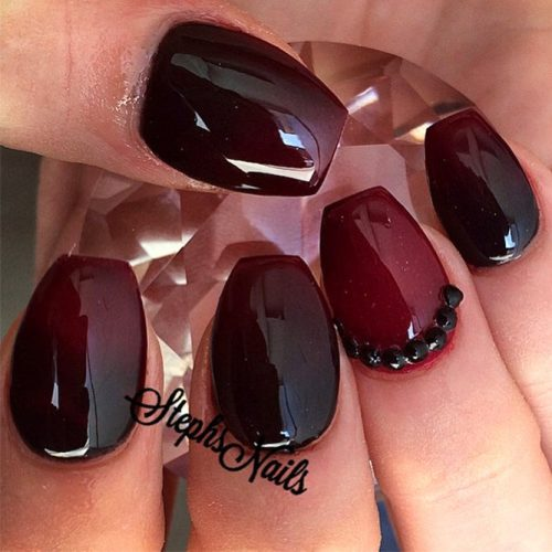 Burgundy Nail Designs picture2