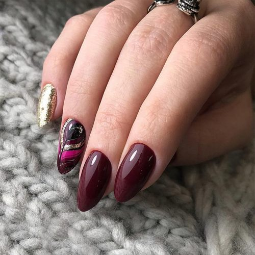 Burgundy Nail Designs picture3