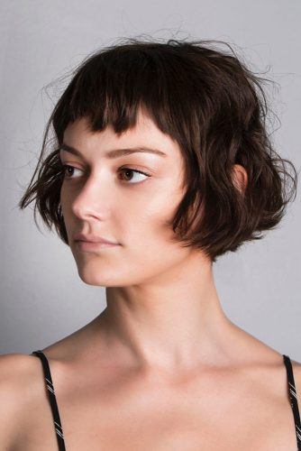 Bob Short Haircuts And Baby Bangs #babybangs #hairstyles #haircuts #bobhairstyles