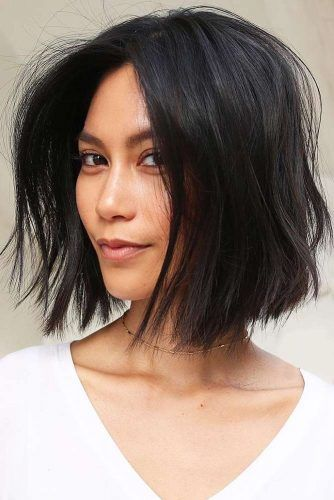 Bob Cuts Black #bob #messyhair