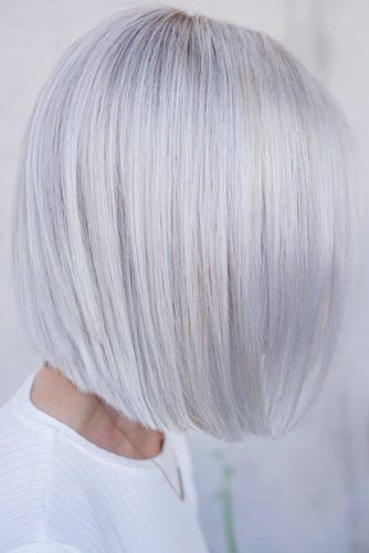 Blunt Bob Cuts Blonde #shorthair #faceshapehairstyles