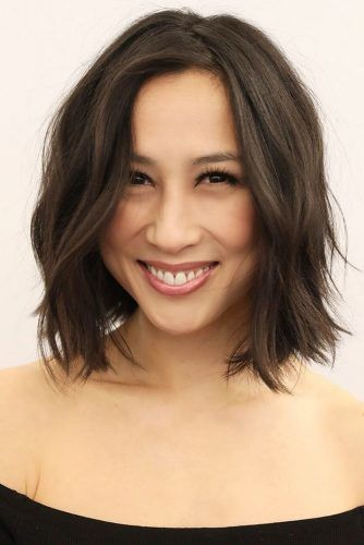 Wavy Bob Haircuts Brown #wavyhair #bob