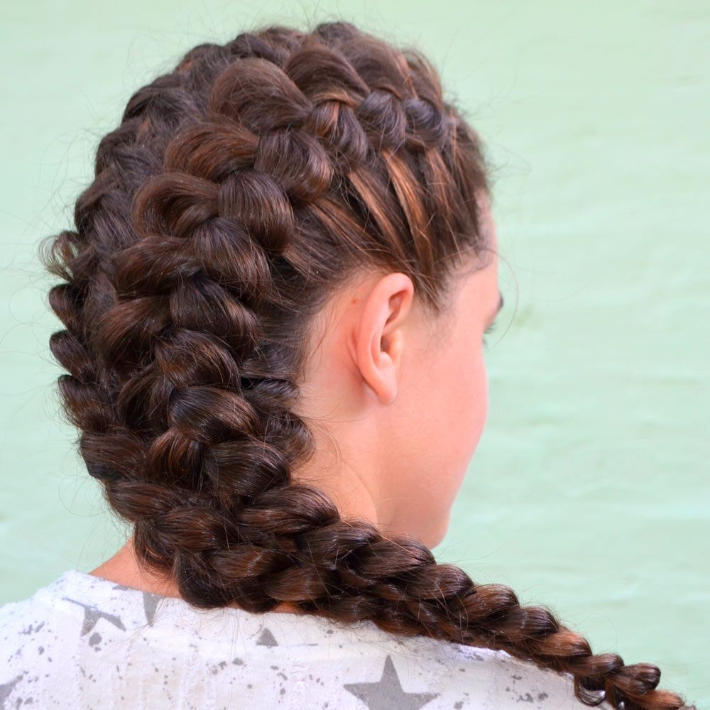 Brown Dutch Braid Styles