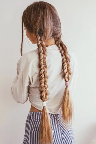 Double Long Braids Ideas Dutch #longhair #braids #brownhair