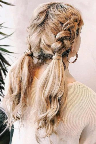 Braids Into Ponytails Dutch #braids #ponytails